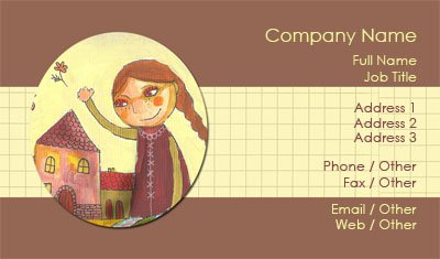 Fairytale Sketch Business Card Template